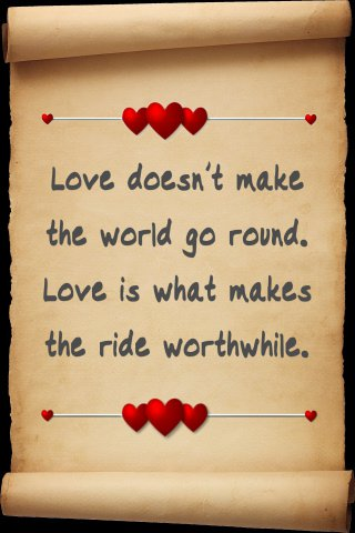 love makes world go-round